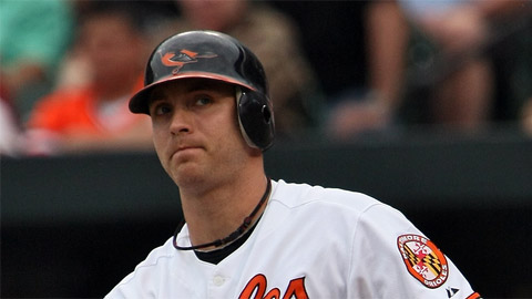Nolan Reimold opened 2010 with Baltimore but hit the first 2011 homer in the Minors.