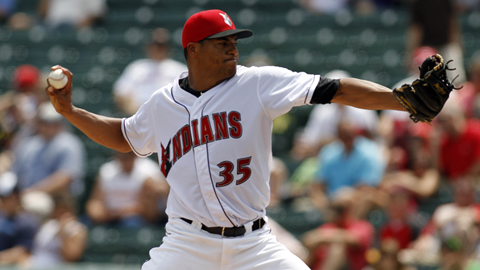 RHP Daniel Cabrera allowed just two earned runs over 6.1 innings Saturday night.