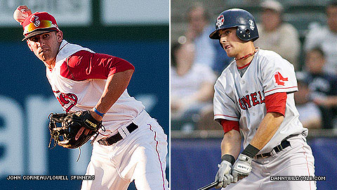 Devin Marrero (l) hopes to follow in the footsteps of Will Middlebrooks.