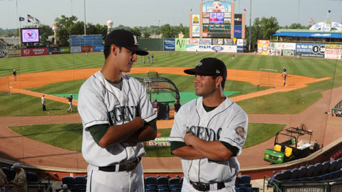 Katya Cengel chronicles the Lexington Legends' Jiovanni Mier (left) and Jose Altuve.